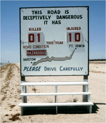 09d 500 hazard roadsign