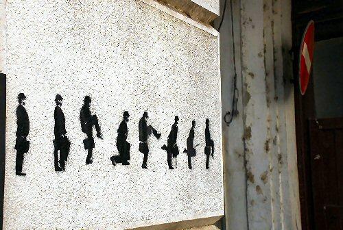 04b 500 Street Art Silly Walk