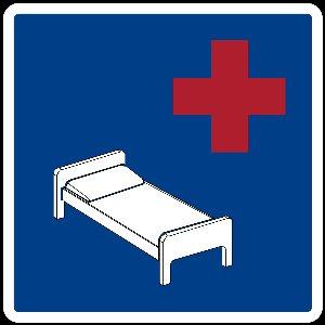 04a 300 road sign hospital