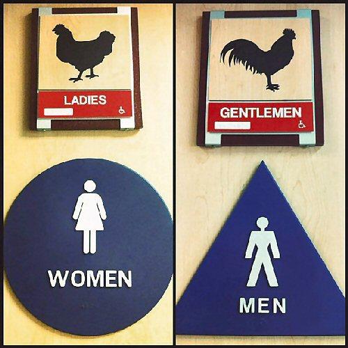 03a 500 KFC bathroom signs