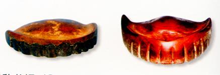 昔の木の入れ歯