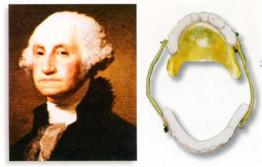 ジョージワシントンの肖像画と入れ歯