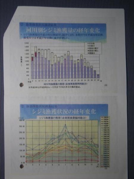 シジミ漁の経年変化