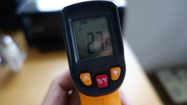 赤外線放射温度計 非接触 レーザー