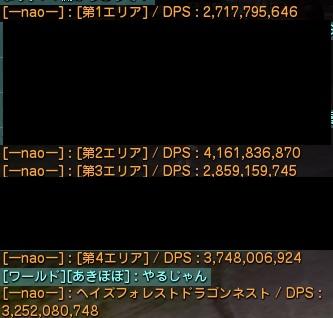 フォレスト初討伐通しDPS