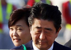 関門海峡花火 大会 安倍首相P