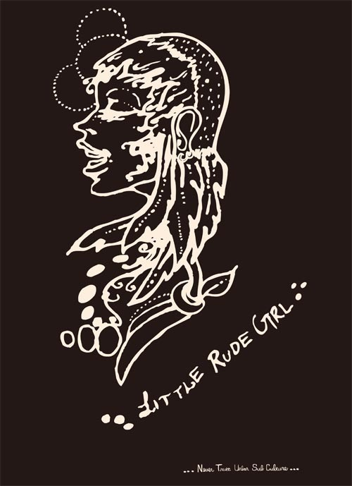 little rude girl Front [BLACK]