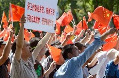 Chinaの抗日デモ
