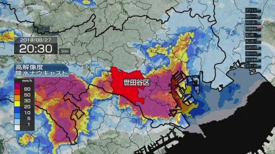 大雨 ゲリラ豪雨 スコール 東京 水没 阿佐ヶ谷 杉並区