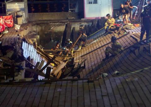 海岸で催された音楽祭にて、ラッパー「ジャンプしろー!」 観客「ぅぇーぃ!」→ 木製の遊歩道が崩落し、377人が負傷 - スペイン