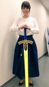 エクスカリバーを持った川澄綾子