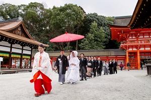 下鴨神社でも結婚式