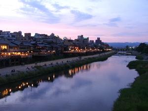 黄昏の鴨川