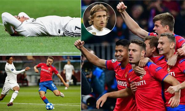CSKA as they shock Real Madrid