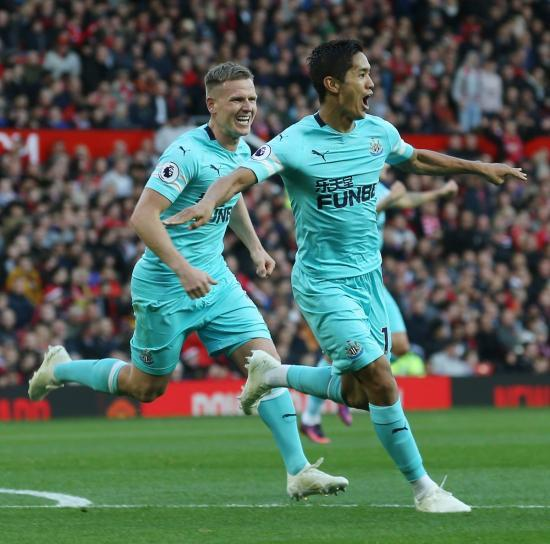 Muto is the first Japanese player to score against Man Utd in the Premier League since Junichi Inamoto