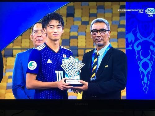 Nishikawa Jun MVP AFC U16 2018