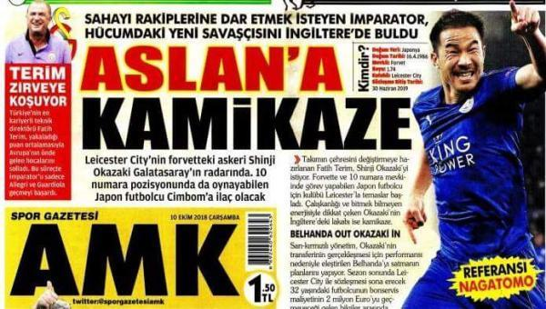 Turkish side Galatasaray are interested in Okazaki Shinji