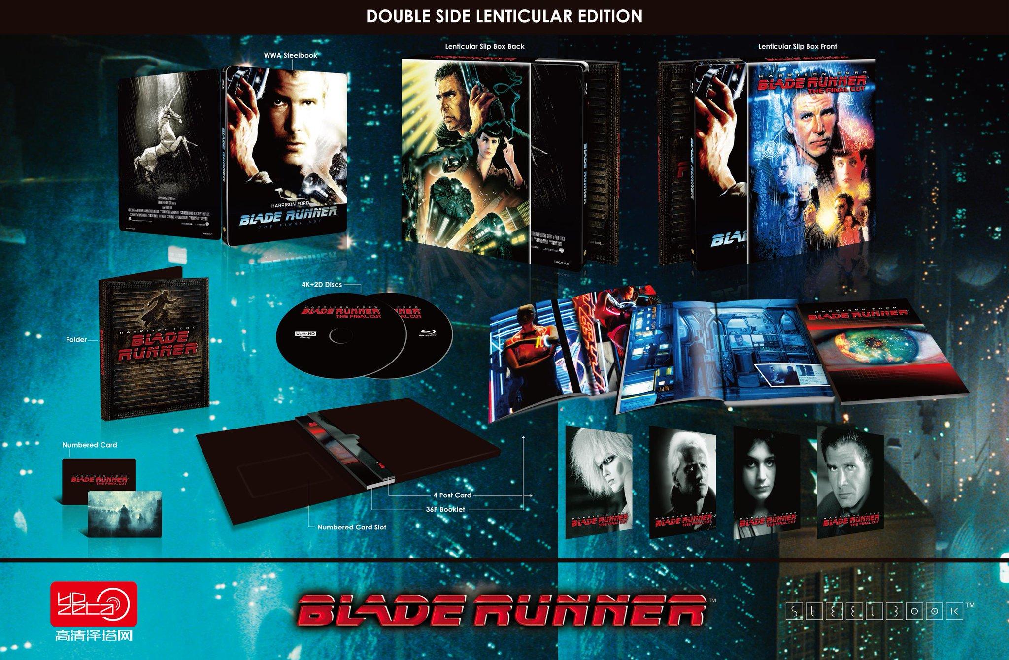 ブレード・ランナー スチールブック HDzeta Sliver Label Blade Runner steelbook