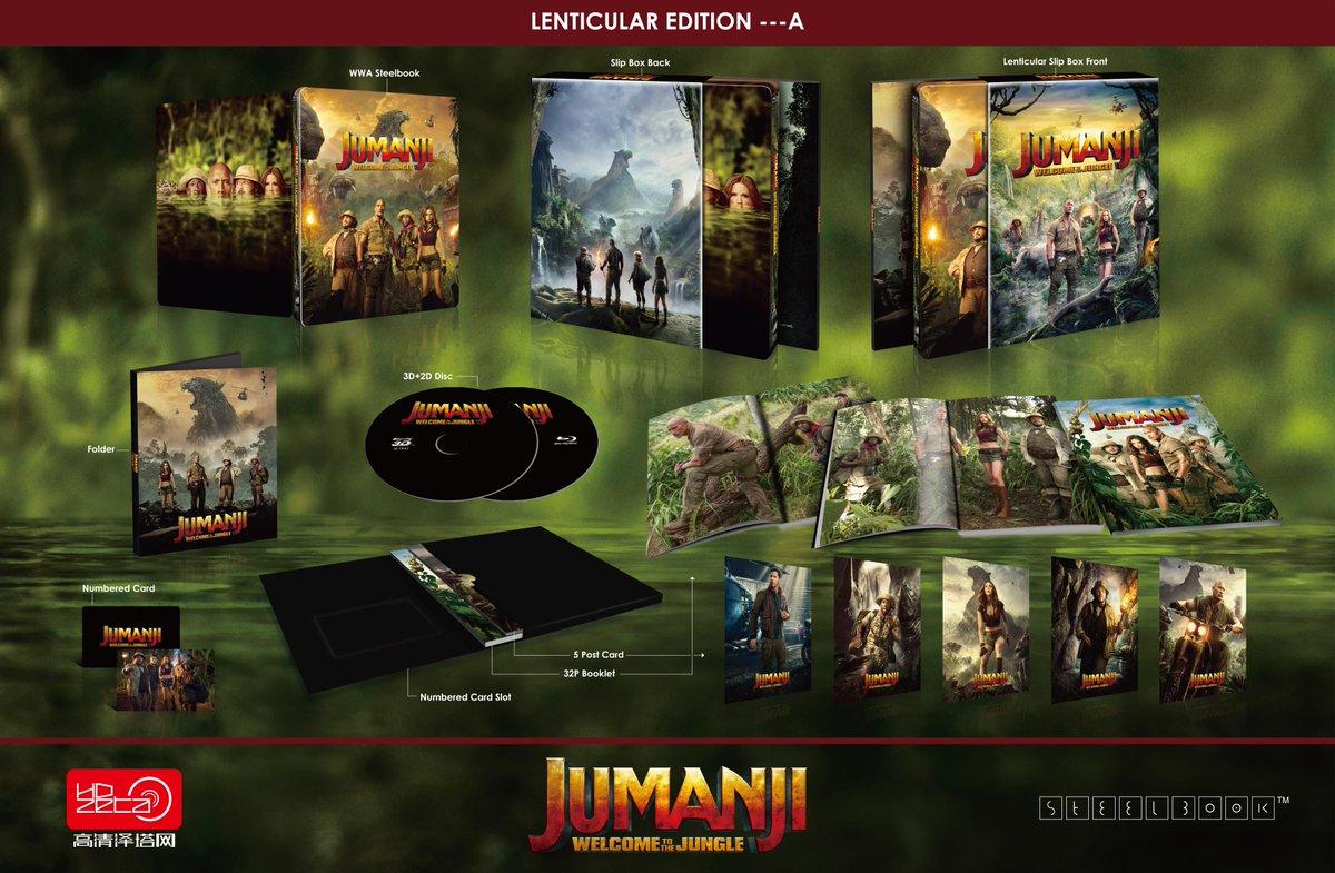 ジュマンジ/ウェルカム・トゥ・ジャングル スチールブック HDzeta Sliver Label Jumanji:Welcome to the Jungle steelbook