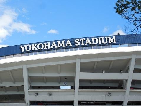 増築工事中の横浜スタジアムa
