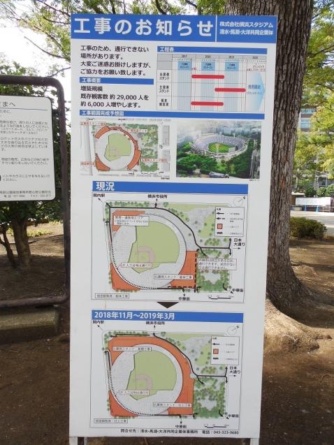 増築工事中の横浜スタジアムc