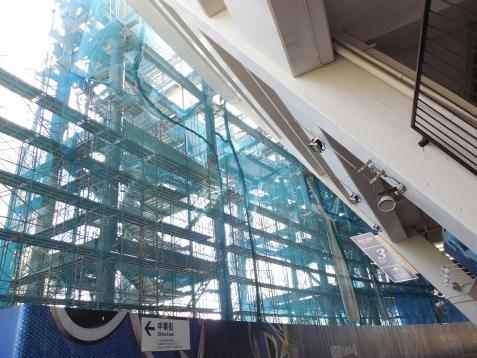 増築工事中の横浜スタジアムe