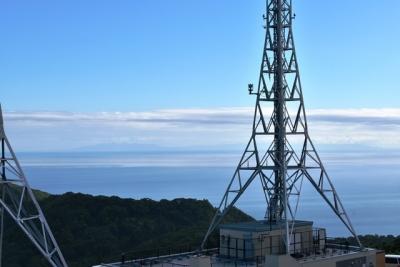 津軽海峡の彼方に津軽半島