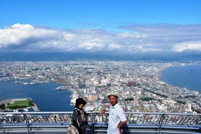 函館山で記念ショット