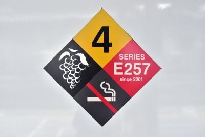 4号車ロゴマーク ぶどう  E257系