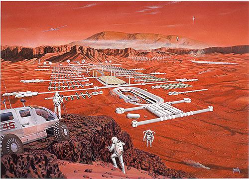 月や火星で地産地消型の基地建設材料