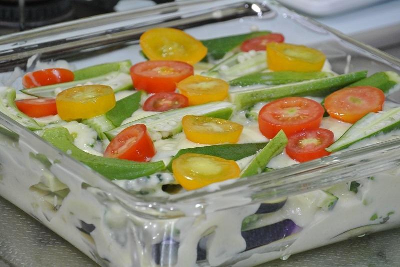 じゃが芋ソース夏野菜のオーブン焼き2