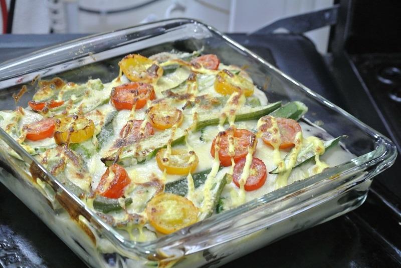 じゃが芋ソース夏野菜のオーブン焼き5