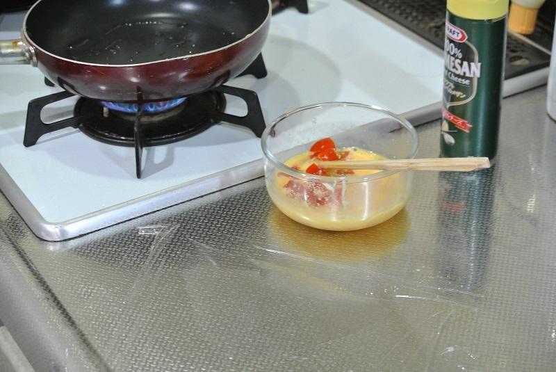 トマトオムレツ1