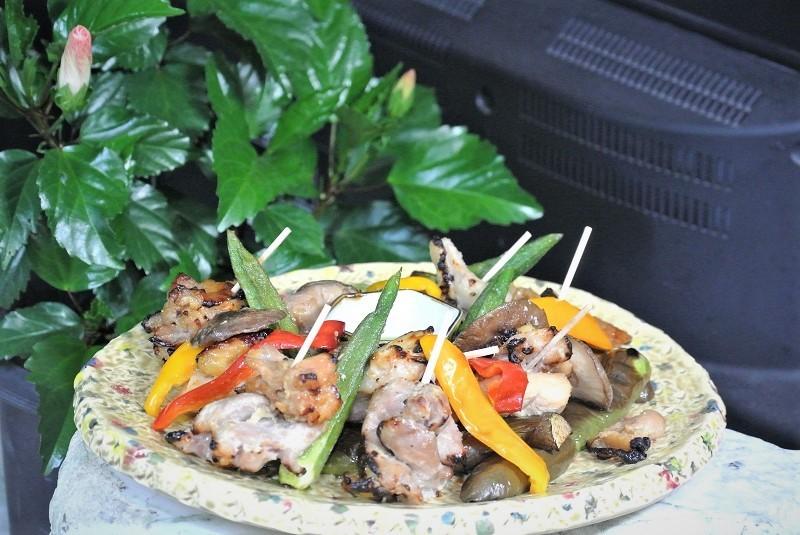 焼き鳥と野菜のグリル1 (2)