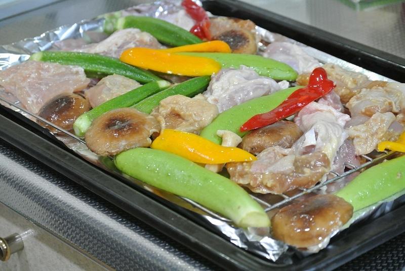焼き鳥と野菜のグリル8