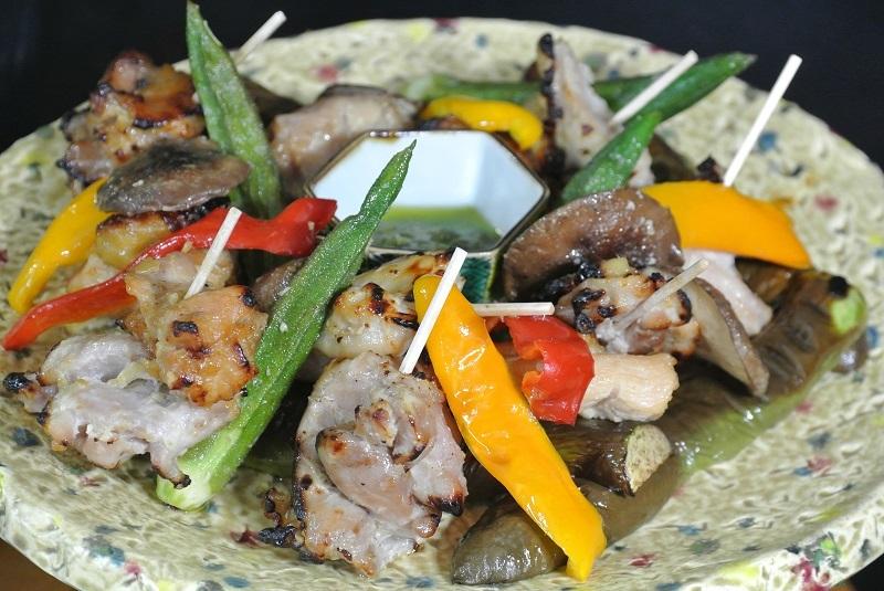 焼き鳥と野菜のグリル9