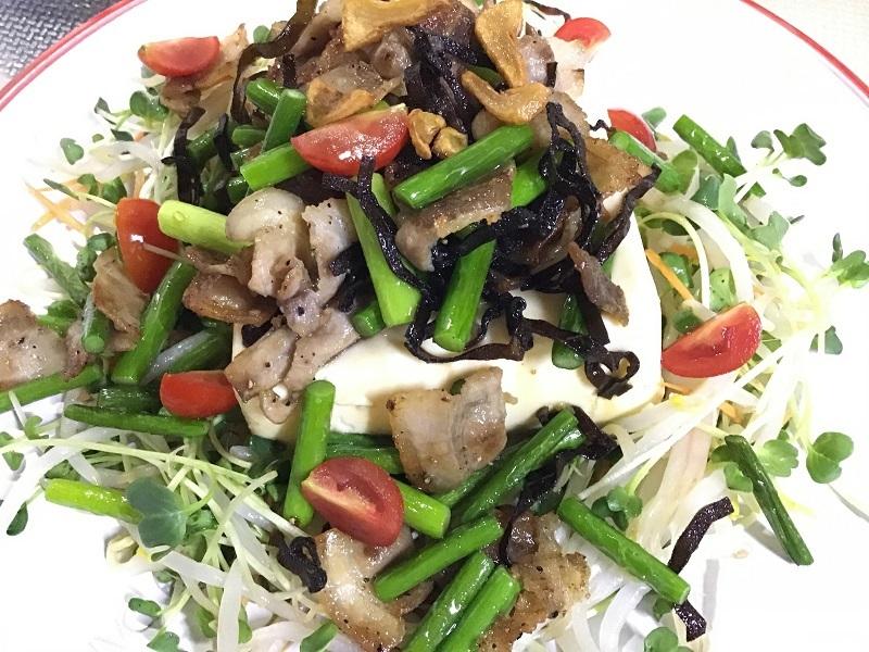 野菜たっぷり豆腐サラダ8