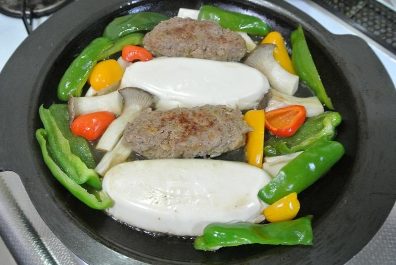 豆腐とハンバーグ4