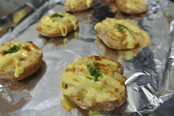 しいたけのチーズ焼き-レンコン3