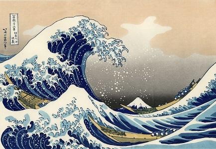 富嶽三十六景神奈川沖浪裏
