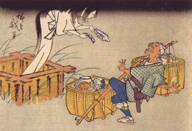 北斎漫画皿屋敷お菊さん