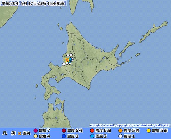 【珍しい震源】北海道の「空知地方中部」で地震…これって「石狩低地東縁断層」の覚醒フラグじゃないか?