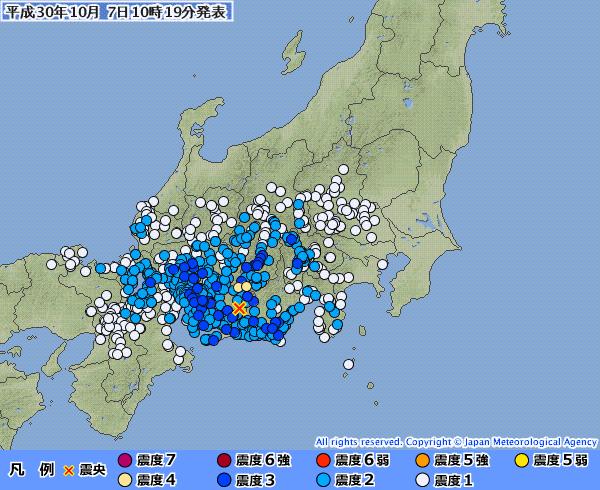 長野県で最大震度4 愛知や岐阜など広範囲で震度3の地震発生 M5.1 震源地は愛知県東部 深さ約40km