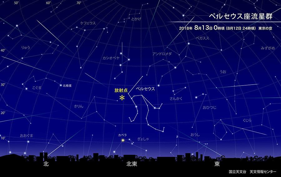 「ペルセウス座流星群」が12日夜から13日早朝にかけて観察できます…1時間あたり40個の流星が見れるかも