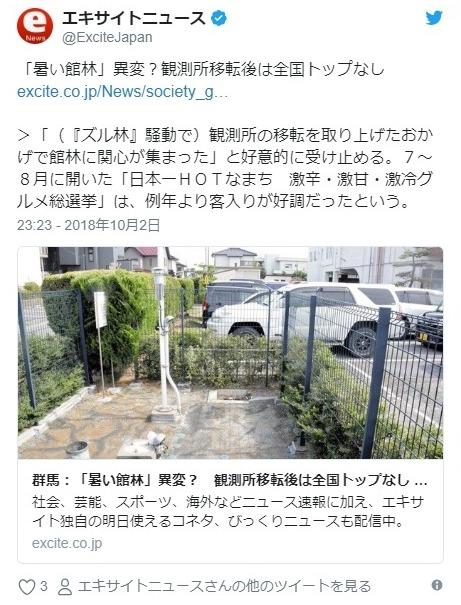 【ズル林】群馬県の館林市「日本一暑い街」をPRしていたがこの夏に異変が…アメダス移設以降、最高気温が「1度」も全国トップにならず