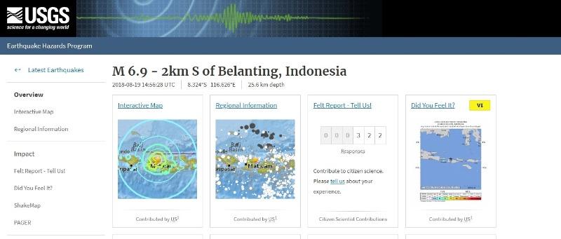 【群発】インドネシアのロンボク島でM6.9の地震がまたも発生…フィジーでもM5.0クラスの深発地震が相次ぐ