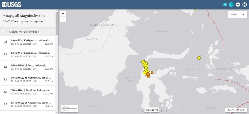 【M7.5 インドネシア】津波高は「6メートル」だった模様…避難所には1万7000人が集まる