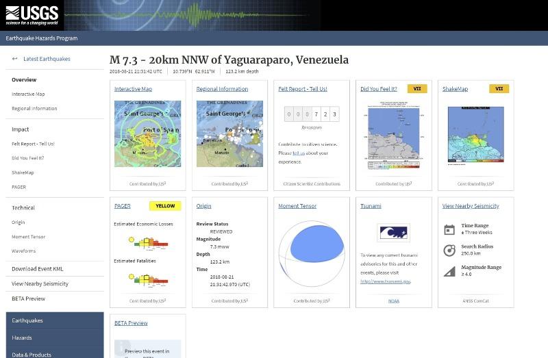 【海外】ベネズエラで「M7.3」 バヌアツで「M6.5」の地震発生