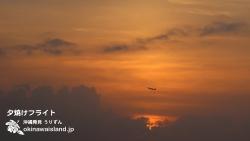 沖縄,壁紙,夕焼け,飛行機