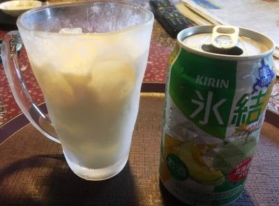 キリン 氷結 北海道メロンにバニラアイス投入♪